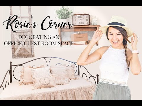 How to Decorate a Pinterest Inspired Office and Guest Room Space