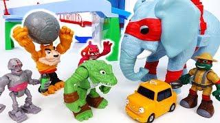Video Go Teenage Mutant Ninja Turtles~! Shredder And Safari Elephant - ToyMart TV MP3, 3GP, MP4, WEBM, AVI, FLV Maret 2018