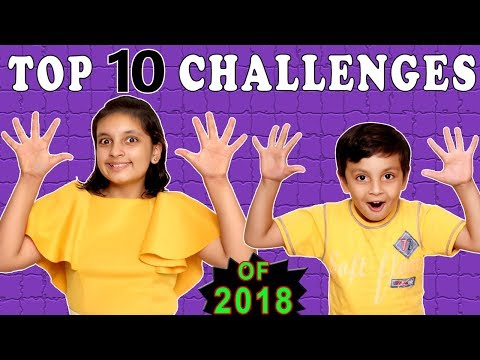 TOP 10 CHALLENGES   #Kids #Funny   All Challenges   Aayu and Pihu Show