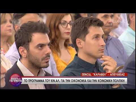Ο Δρόμος προς την Κάλπη – Παρουσίαση του Οικον. και Κοιν. Προγράμματος ΚΙΝ.ΑΛ. | 25/06/2019 | ΕΡΤ