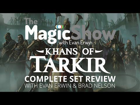 set - Support the show! http://www.patreon.com/magicshow It's here! Every single card in Khans of Tarkir as brought to you by myself and Brad Nelson! Let's discuss Black / Sultai! Follow me on...
