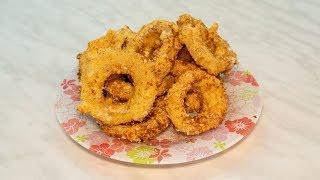 Луковые кольца с сыром в кляре