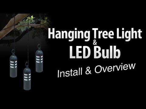 Hanging tree light & LED light bulb install & overview