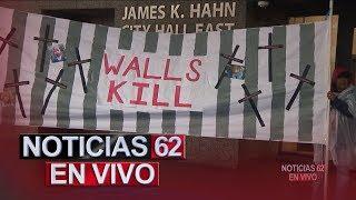 Activistas protestan para oponerse a la construcción de un muro fronterizo. - Noticias 62. - Thumbnail