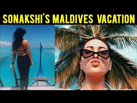 Sonakshi Sinha Enjoys In Maldives, Wears A Bikini