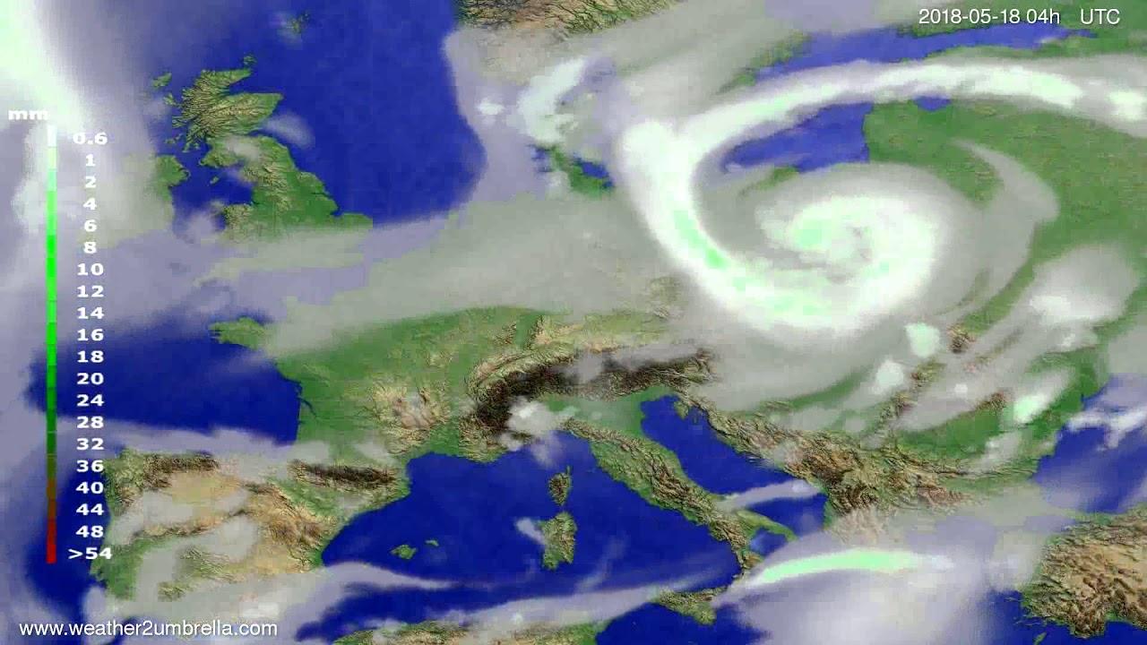 Precipitation forecast Europe 2018-05-14