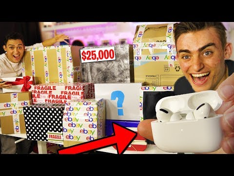 I SPENT 50,000 ON 11 EBAY MYSTERY BOXES!! NEW AirPods PRO UNBOXING amp REVIEW Giveaway! BOX OPENING