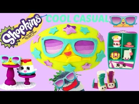 SHOPKINS Cool Casual Season 3 Play Set! 8 Exclusives!