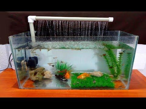 How to make an Aquarium Fountain using a PVC pipe / DIY_Akvárium. Heti legjobbak