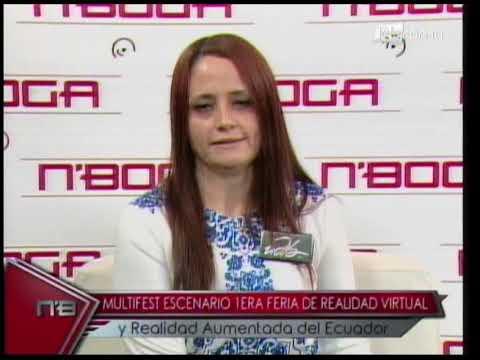 Multifest escenario 1era feria de realidad virtual y realidad aumentada del Ecuador