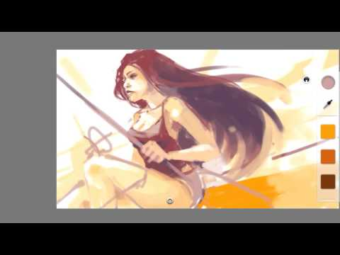 Spikes – Galaxy Note 2 speed painting