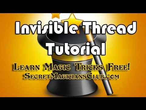 Learn A Free Magic Trick – How To Strip Magic Invisible Thread