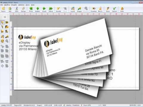 Crea e stampa buste da un foglio di Excel