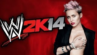 MILEY CYRUS In WWE 2K14!!! (Funny Moments Gameplay In WWE 2014) [PS3]