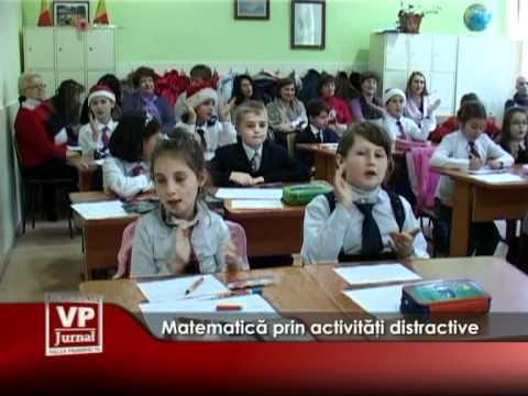 Matematica învăţată prin activităţi distractive