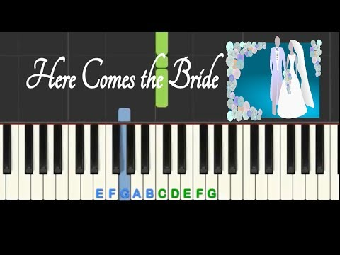Here Comes The Bride, Bridal Chorus, Easy Piano Tutorial With Free Sheet Music!