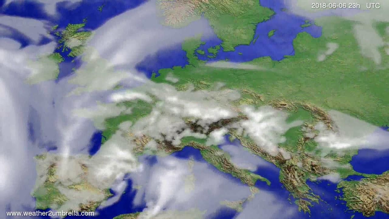 Cloud forecast Europe 2018-06-03