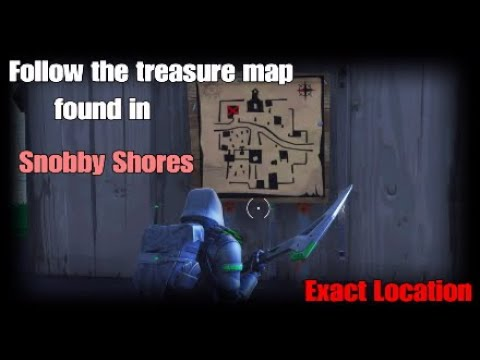 Follow the Treasure Map found in Snobby Shores (Exact Location ) -Fortnite Week 5 season 5 Challenge