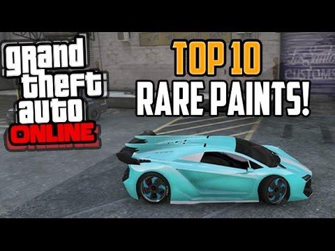 GTA 5 Paint Jobs: Best Rare Paint Jobs Online (Neon Blue, Tron, Dragon) Secret Top Ten Gameplay