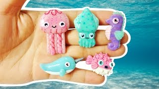 DIY SEAHORSE, JELLYFISH, NARWHAL, PUFFER FISH & SQUID POLYMER CLAY CHARMS. I hope you guys enjoy it & always feel free to leave me recommendations for videos in my comment section. It gives me ideas of what to make next ;D LOVE YOU GUYS! BYE! = SUBSCRIBE ❤ https://goo.gl/V5GAva ❤= My Social Media= - Tumblr @ http://goo.gl/btvSsv- Pinterest @ https://goo.gl/LDfTxp- Instagram @ https://goo.gl/wymAop= Music Youtube Audio Library- Ligthning Bugs by Audionautix  Artist: http://audionautix.com/- Lonely Nights by Silent Partner-  Creative Commons Attribution license @   (https://creativecommons.org/licenses/by/4.0/)❤ This Video was NOT Sponsored =D= I created this video with: Cyberlink Power Director 14 Ultimate, Sketchbook Pro, Picmonkey.com,  Wacom Intous Pen Tablet & Moho Pro 12.