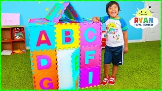 ABC Song Playhouse Learn English Alphabet for Children with Ryan! | Kids Nursery Rhymes