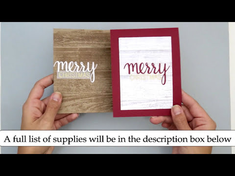 3 Simple Christmas Cards. DIY Handmade Christmas Cards