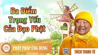 Ba Điểm Trọng Yếu Của Đạo Phật - Thầy Thích Thanh Từ