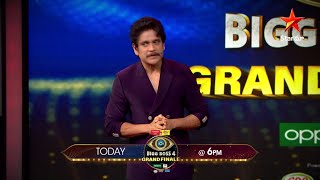 #BBTeluguGrandFinale Day!!! So many surprises and too much fun on #BiggBossTelugu4 from 6 PM today