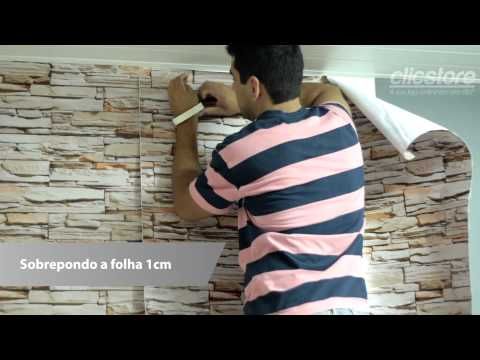 Imagens de papel de parede - Tutorial Como Aplicar Papel de Parede Adesivo de Parede