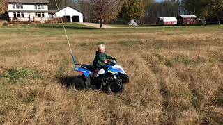 3. Under 2 year old on Polaris Outlaw 50 Quad ATV