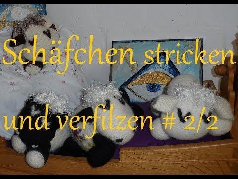KeKa@SCHÄFCHEN@stricken und verfilzen,gefilzt,filzen ,*IDEE für KUH+LÖWE* Teil (2/2)