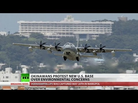 Okinawa mayor protests construction of new Marine Corp airbase