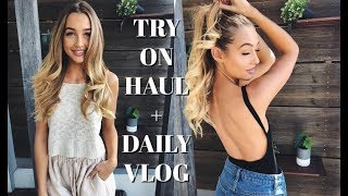 Video VLOG | Try On Clothing Haul + What I Eat in a Day MP3, 3GP, MP4, WEBM, AVI, FLV Maret 2018