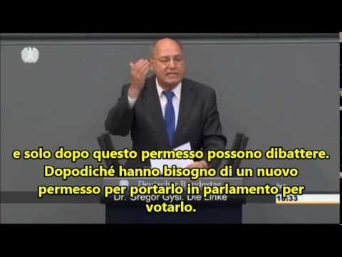 gysi spiega al parlamento tedesco la triste verità di europa ed euro
