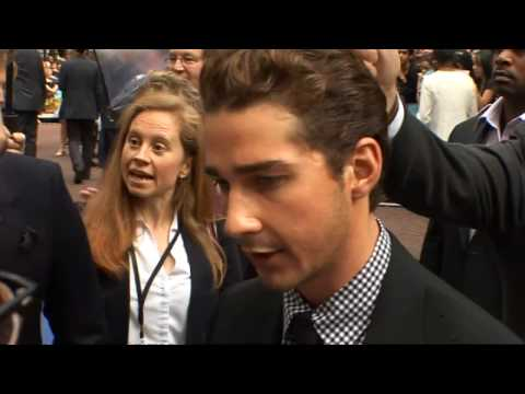 Shia LaBeouf missing Megan Fox on Transformers 3 Video