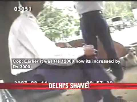Delhi 98 cops suspended for taking bribe. Caught on hidden cam