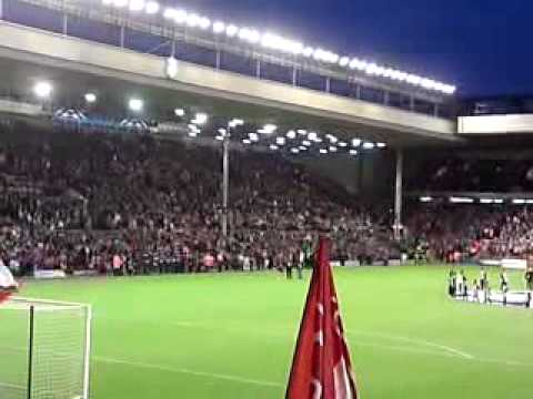 Liverpool Vs Debrecen YNWA Champions League 1st Home Group Stage Match 16/09/09