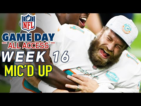 """NFL Week 16 Mic'd Up! """"I tried your water, I didn't know you were packing fruit punch!"""" 