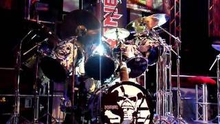 "Nicko McBrain plays ""moonchild"" live."