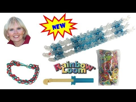 ♥♥ How To Make The Single Loop Rubber Band Bracelet Using the Rainbow Loom