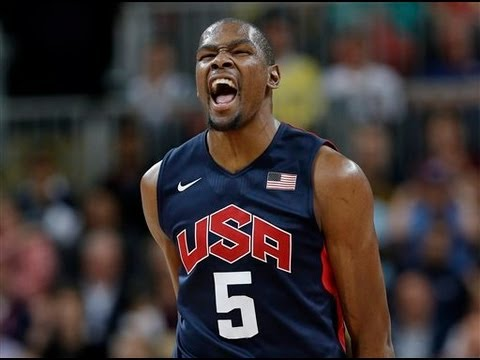 Durrant - Kevin Durant scored 17 of his 28 points during Team USA's explosive 42-point third quarter Monday.Up only 1 at the half, Team USA goes on 42-17 run in the th...