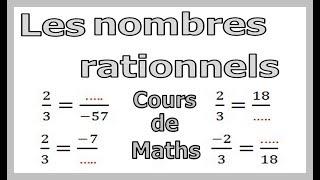 Maths 3ème - Les nombres rationnels Exercice 6
