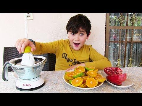 Kerem Mutfakta 2. Bölüm Doğal Meyve Suyu Yapıyoruz