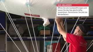 Aufbauanleitung Sky Ads, Helium no problaim aufblasbare Werbeträger Ballon inflatable Luftwerbung