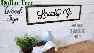 Dollar Tree DIY Farmhouse Wood Sign
