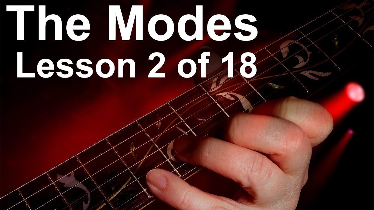 Modal scales 2.  The Ionian scale, guitar scales mode 1, .