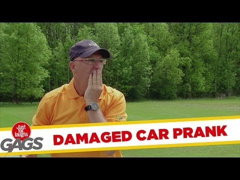 Golf Club Through Police Windshield Prank