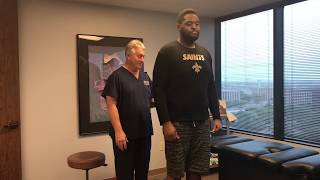 """Video 6' 7""""  300 LB Football Player Adjusted By 6' 239 LB  Old Man Strength Houston Chiropractor MP3, 3GP, MP4, WEBM, AVI, FLV Maret 2019"""