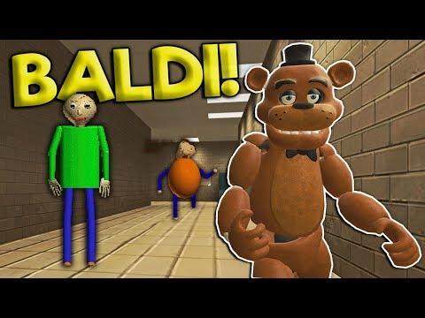 Garrys Mod - SURVIVING THE HAUNTED BALDI'S SCHOOL! - Garry's Mod Gameplay - Gmod Multiplayer Baldi Fnaf Survival