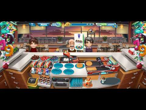 COOKING FEVER {Sunset Waffles} Level 32-35 Bought Automatic Waffler Maker Awesome & Fun
